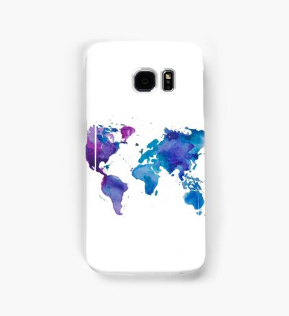 Watercolor Map of the World Samsung Galaxy Case/Skin