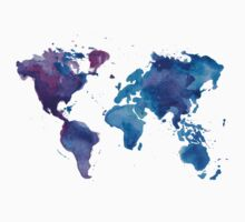 Watercolor Map of the World (t-shirt) T-Shirt