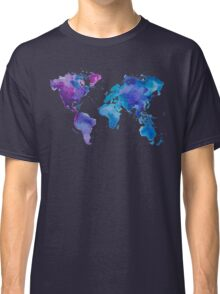 Watercolor Map of the World Classic T-Shirt
