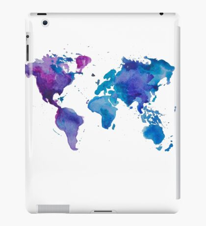 Watercolor Map of the World iPad Case/Skin