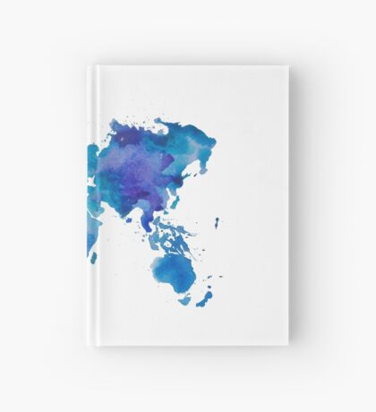 Watercolor Map of the World Hardcover Journal