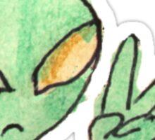 Indie alien Sticker