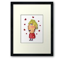 silly lady in love Framed Print