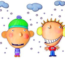 friends in winter by claygirrl