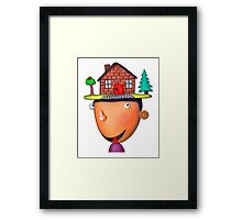 home is where the hat is Framed Print