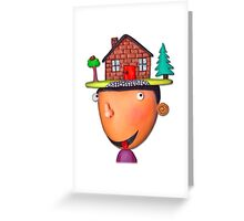 home is where the hat is Greeting Card