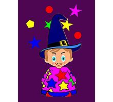 Toon Boy 6a Wizard duvet, etc. design Photographic Print