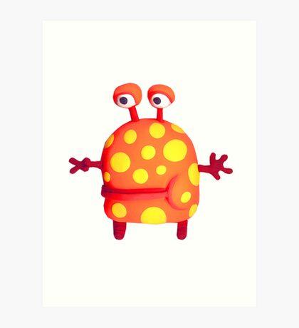 polka dot monster Art Print