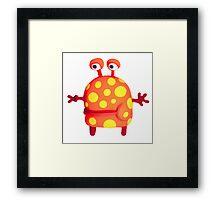polka dot monster Framed Print