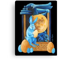 Lunar Rabbits and Hares Canvas Print