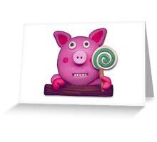 sweet sucker pig Greeting Card