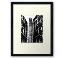 Highrise walking (35mm) Framed Print