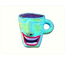 wacky smiling coffee cup Art Print
