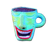 wacky smiling coffee cup Photographic Print