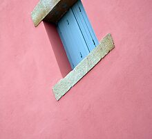 French Window on Pink Wall by Liz Garnett