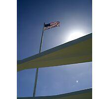 Star Spangled Banner - USS Arizona Memorial Photographic Print