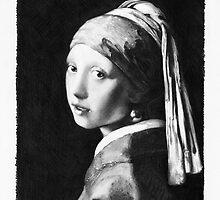 Vermeer - study in pencil by Jan Szymczuk