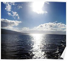 Sun on the water - Maui, Hawaii, United States  Poster
