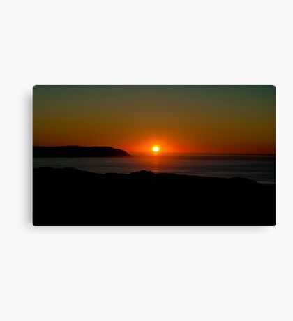 Red ball of fire Canvas Print