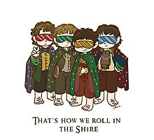That's how we roll in the Shire  Photographic Print