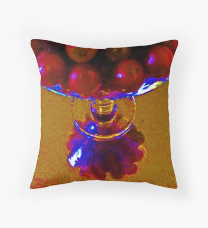 G-R-A-P-E-S Throw Pillow