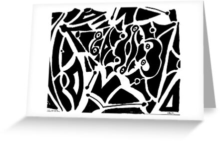 019 - ABSTRACT DESIGN - DAVE EDWARDS - FELT-TIP PEN - 1967 by BLYTHART