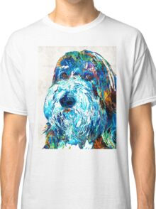 Bearded Collie Art 2 - Dog Portrait by Sharon Cummings Classic T-Shirt