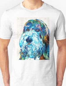 Bearded Collie Art 2 - Dog Portrait by Sharon Cummings T-Shirt