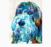 Bearded Collie Art 2 - Dog Portrait by Sharon Cummings Unisex T-Shirt