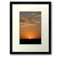 A Kenyan Sunrise Framed Print