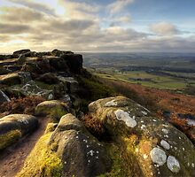 Baslow Edge Derbyshire by Roy Childs