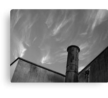 smoke sky chimney - Bristol Canvas Print
