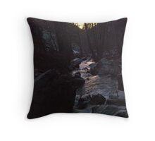 Runoff Sunset Throw Pillow