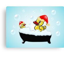 Christmas Ducks Canvas Print