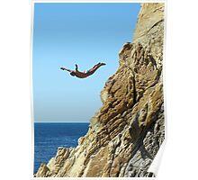 Acapulco Cliff Diver Poster