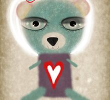 Loneliness teddy bear by rupydetequila