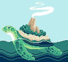 Gentle sea monster (Pixel) by Malevolentmask