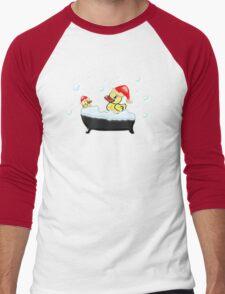 Christmas Ducks Men's Baseball ¾ T-Shirt