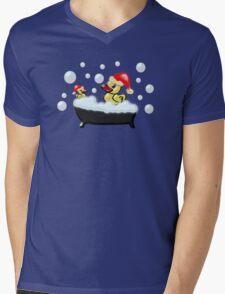 Christmas Ducks Mens V-Neck T-Shirt