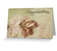 Wedding Roses Greeting Card