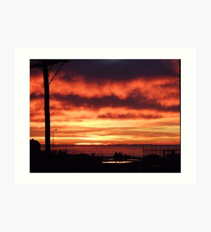 Morning Sky On Fire Art Print