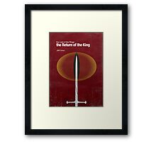 """The Return of the King"" - minimalist poster design Framed Print"