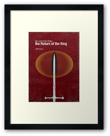 """""""The Return of the King"""" - minimalist poster design by J PH"""