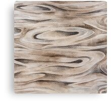 Wooden Texture painted in watercolor Canvas Print