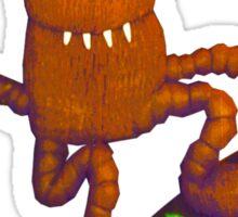 wacky weasel skater Sticker
