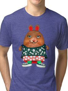 punk pet hamster Tri-blend T-Shirt