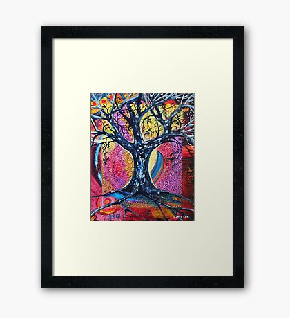 'Tree in an Abstract Landscape' Framed Print