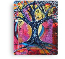 'Tree in an Abstract Landscape' Canvas Print