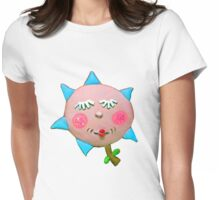 silly flowerguy Womens Fitted T-Shirt