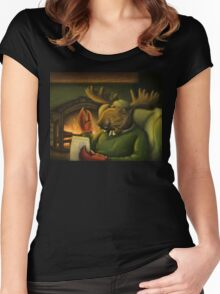 The Marvelous Mr. Mooseclaw Women's Fitted Scoop T-Shirt